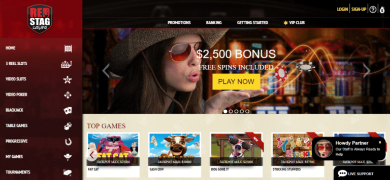 Red Stag Casino 21 Free Spins No Deposit Bonus Code