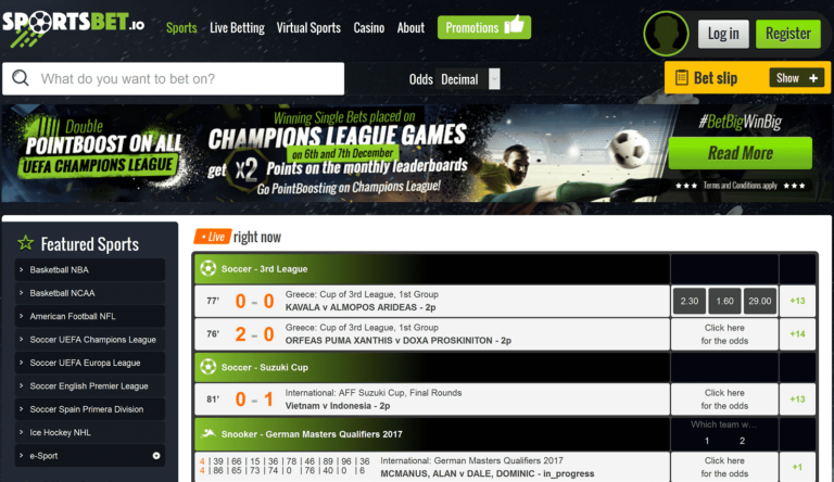 Bitcoin Sportsbook Free Bet Promotion September 2019