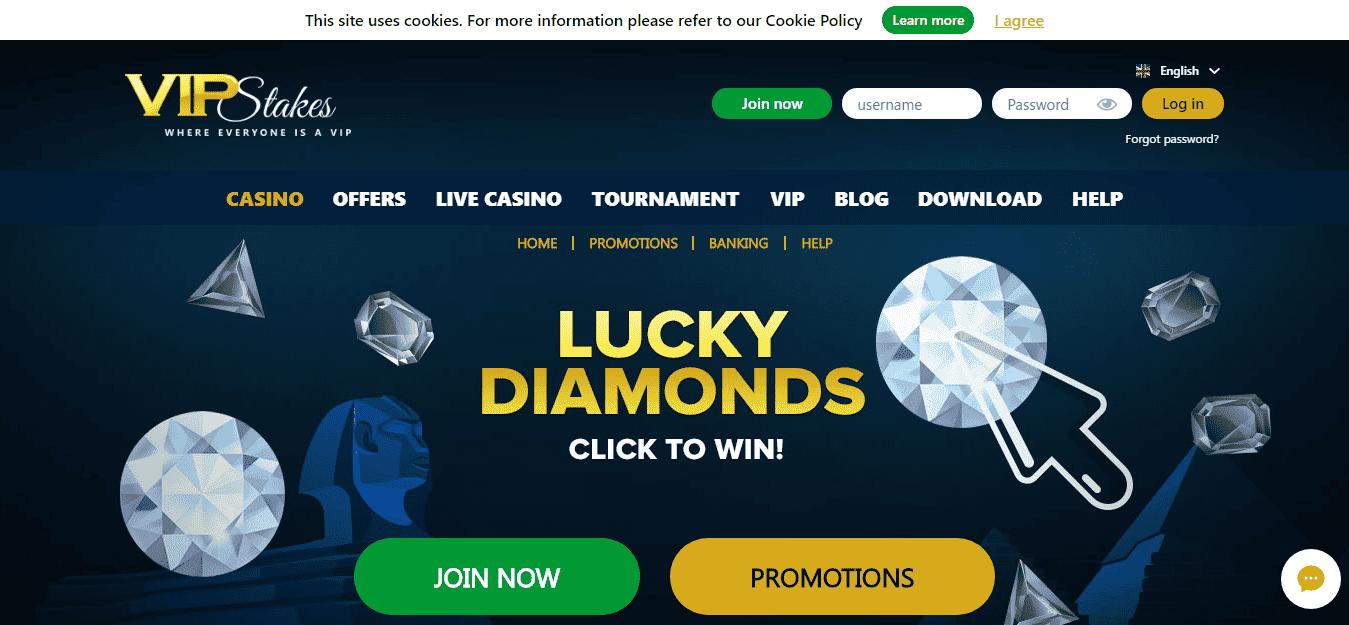 VIP Stakes Casino Sign Up Welcome Bonus Code September 2020