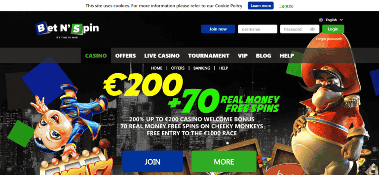 Bet N' Spin Casino Coupon Code September 2020