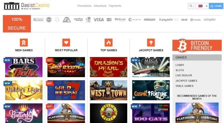 Dasist Casino Bonus Codes January 2021 – Dasistcasino.com Promo Code