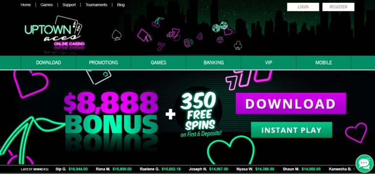 Uptown Aces Casino 225% Bonus Plus 50 Free Spins