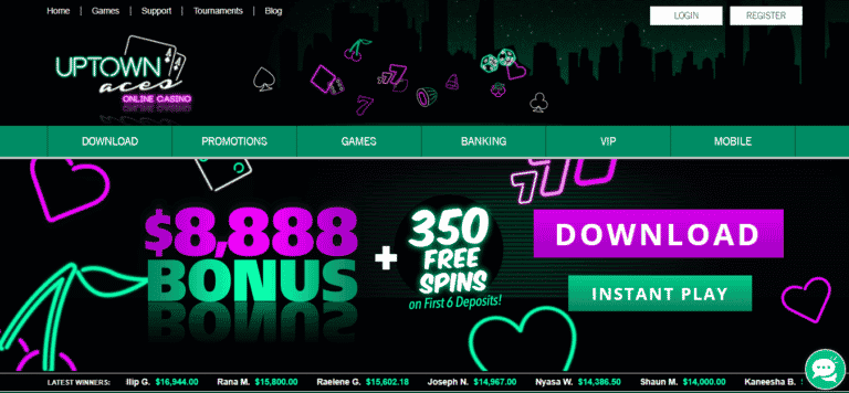 Uptown Aces Casino 111% Matched + 33 Freespins Bonus Code September 2020