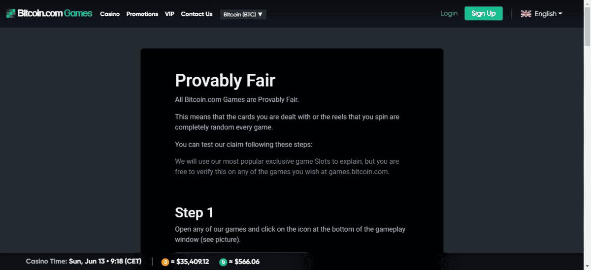 Provably Fair Bitcoin Games
