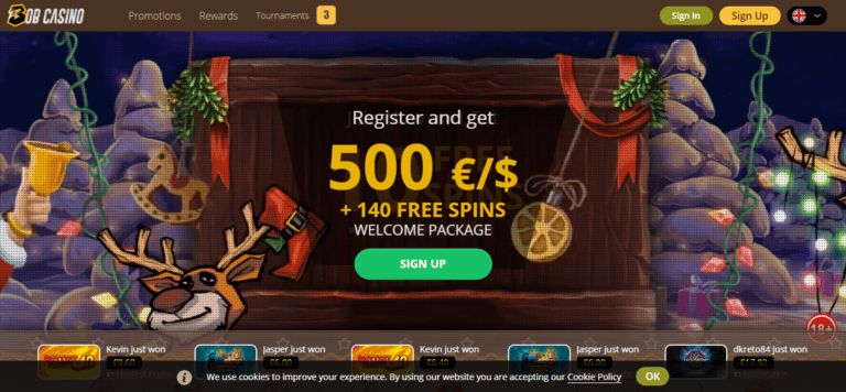 Bob Casino Promo Codes January 2021