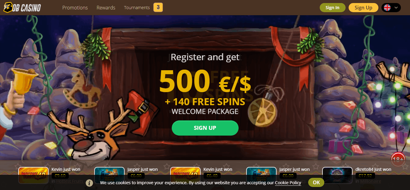 Bob Casino Promos, Reviews & Ratings