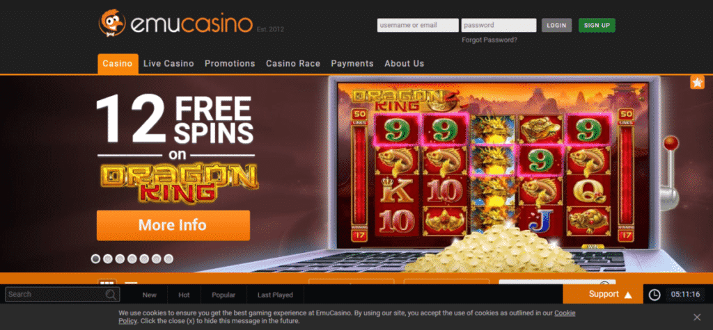 Emu Casino Promo Code Offers September 2020 – EmuCasino.Com Free Spins