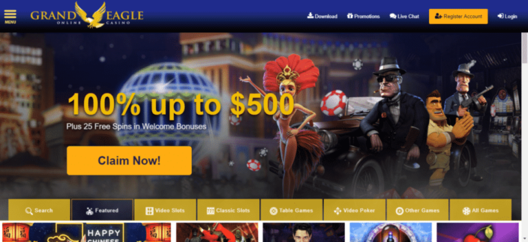 Grand Eagle Casino Free Spins Bonus Code August 2020