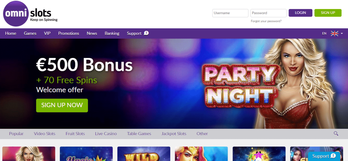 Omni Slots Free Spins Promo Codes December 2019