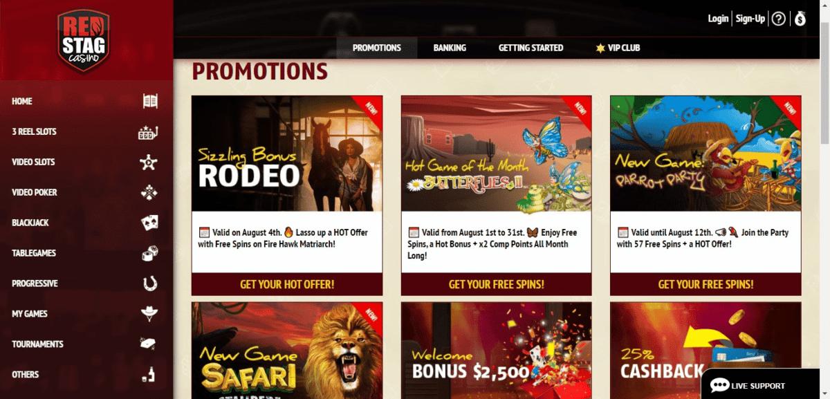Red Stag Casino Promo Code