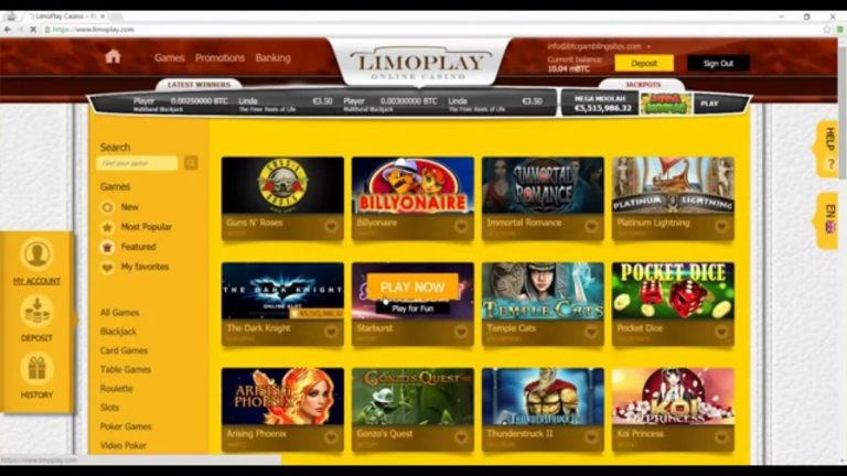 LimoPlay Casino Welcome Bonus May 2019