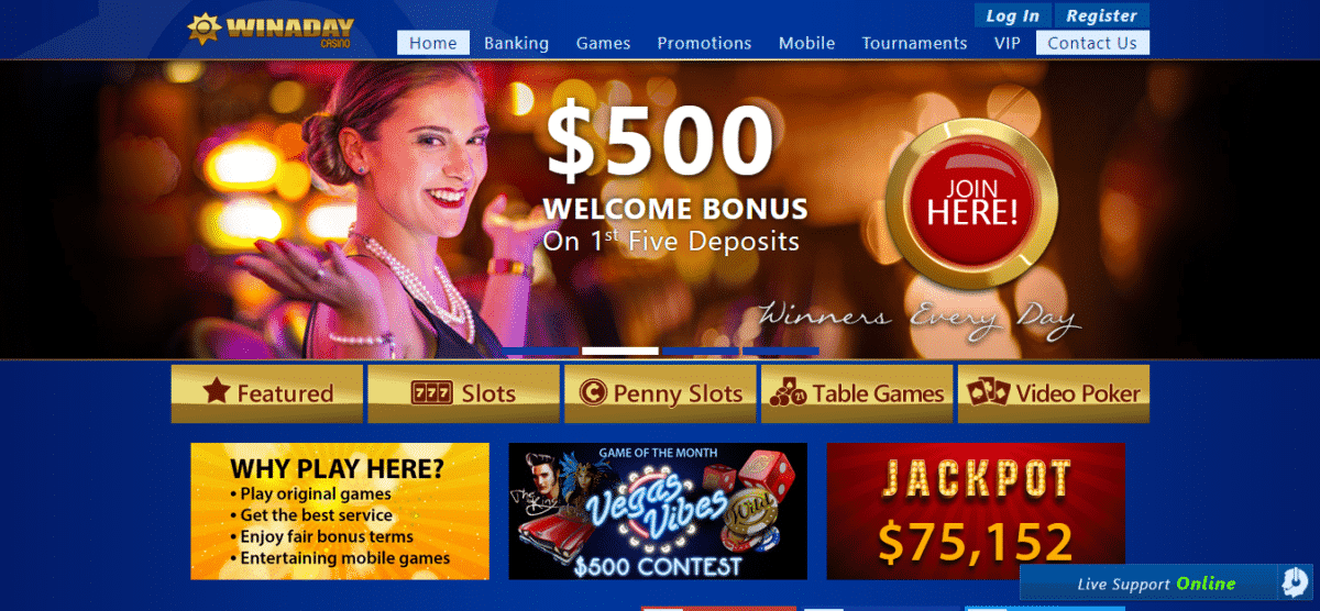 Win A Day Casino No Deposit Bonus Codes August 2019 – Winadaycasino.eu Coupons
