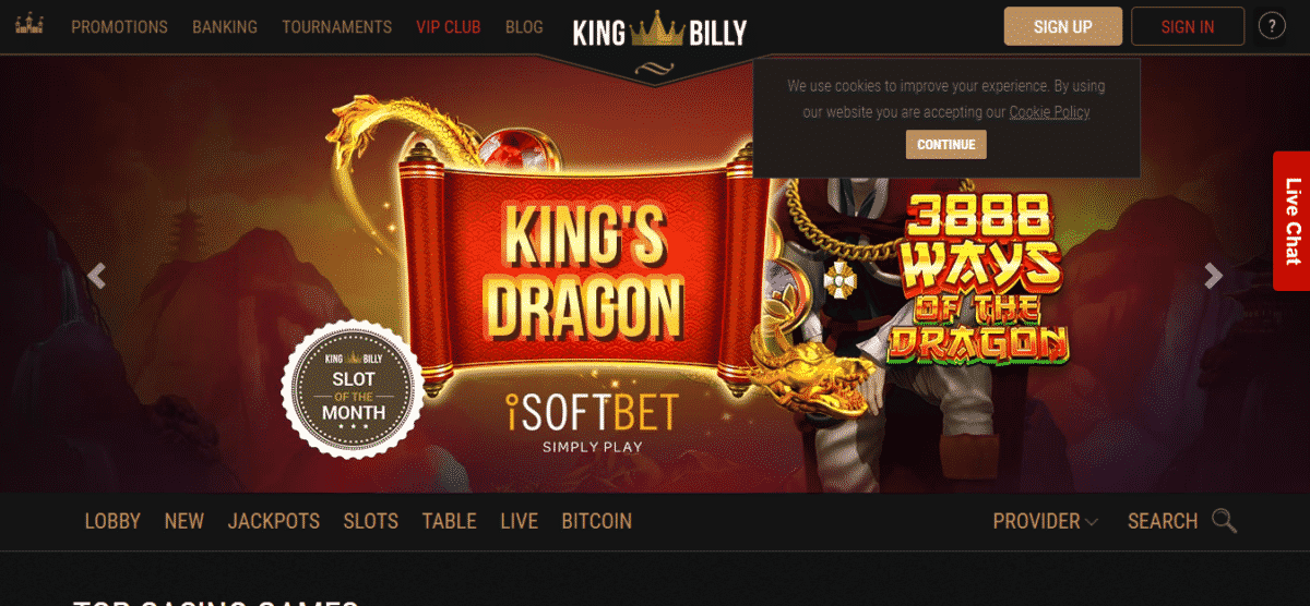 King Billy Casino No Deposit Bonus September 2019 – Kingbillycasino.com Coupons