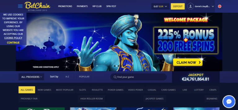 BetChain Casino Free Spins Promo Codes August 2020