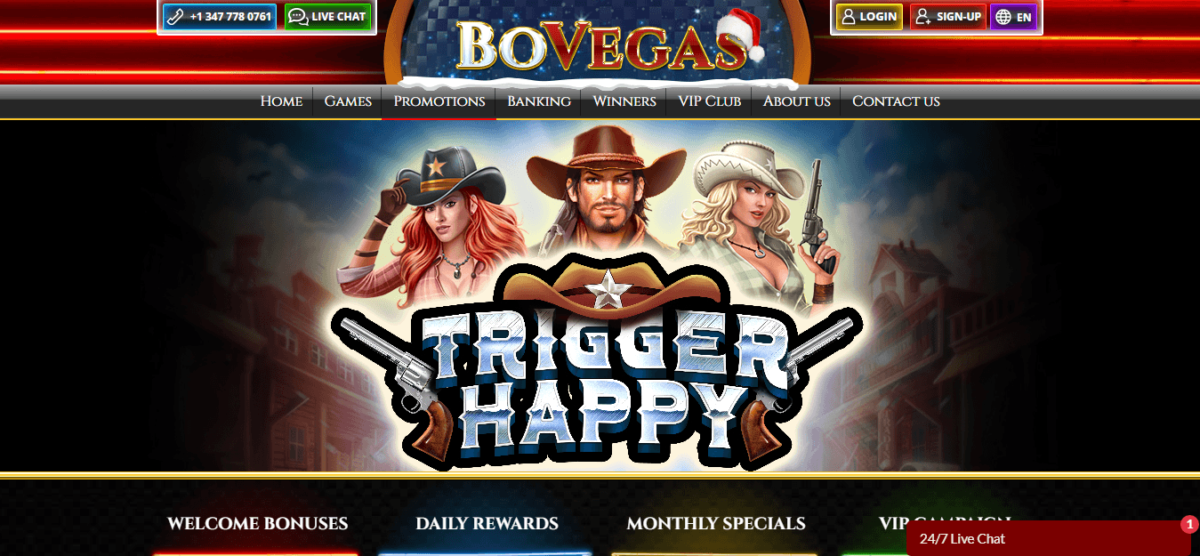 BoVegas Casino Free Bonus