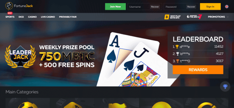 FortuneJack No Deposit Bonus January 2021