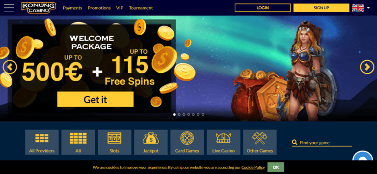 Konung Casino Free Spins Bonus January 2017
