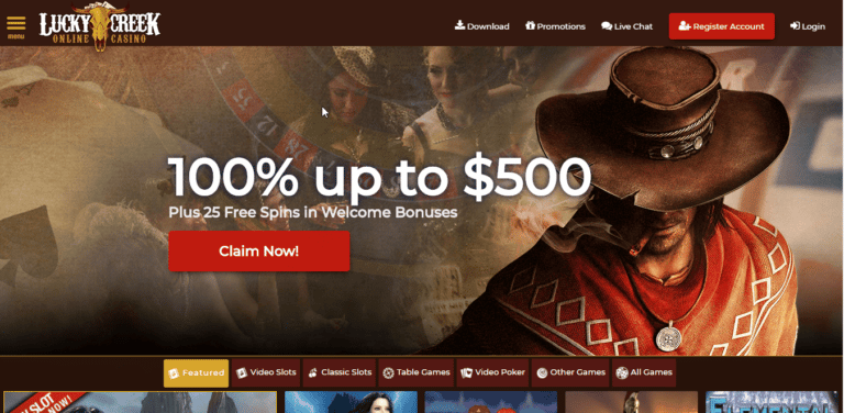 Lucky Creek Casino 250% Bonus Code August 2020