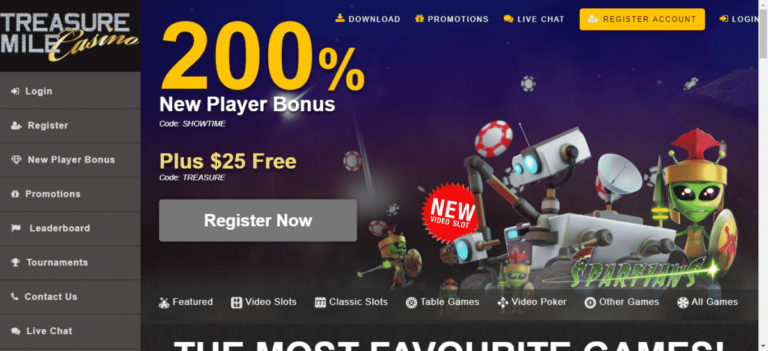 Treasure Mile Casino No Deposit Bonus Code