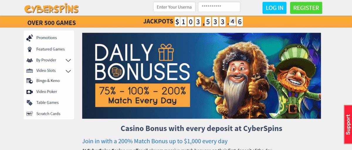 CyberSpins Free Bonus