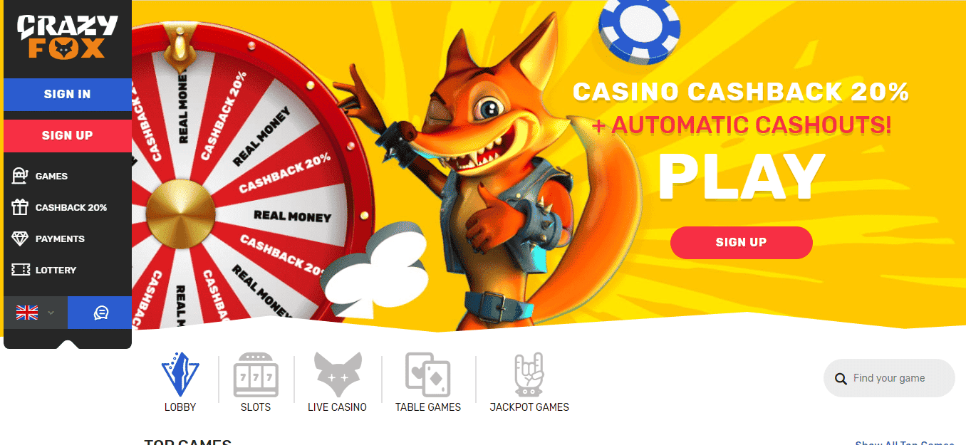 Crazy Fox Casino Bonus Codes – CrazyFox.com Free Spins July 2020