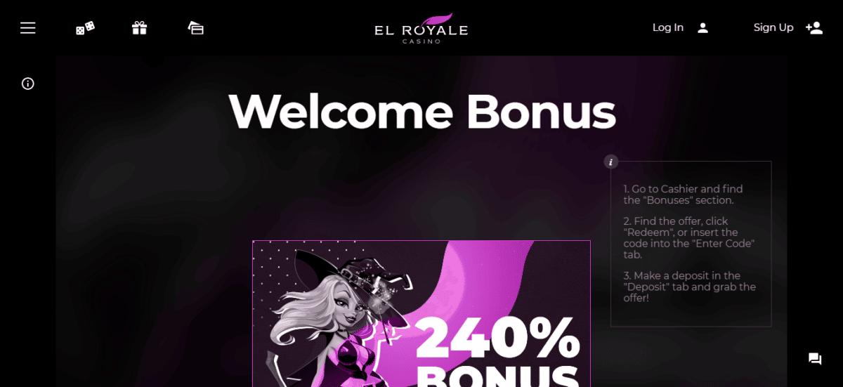 El Royale Casino No Deposit Bonus