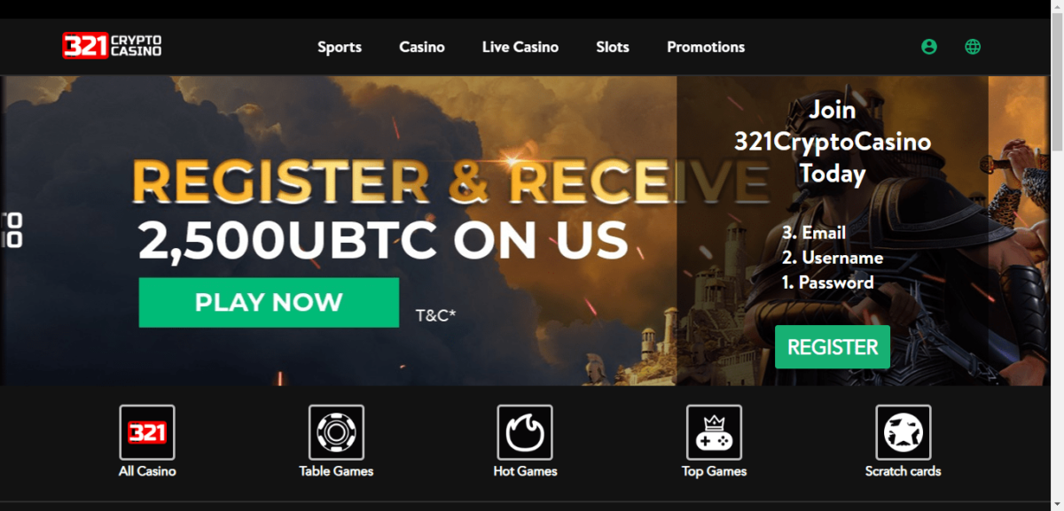 321 Crypto Casino Free Bonus