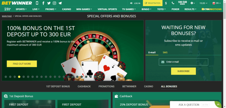Bet Winner Casino Promo Codes – BetWinner.com Free Bonus August 2020