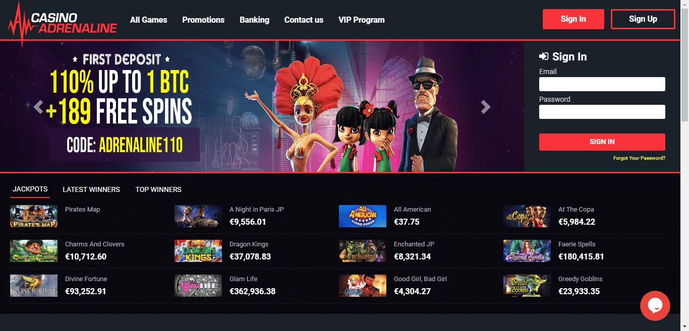 Casino Adrenaline Bonus Codes – CasinoAdrenaline.com Free Spins January 2021