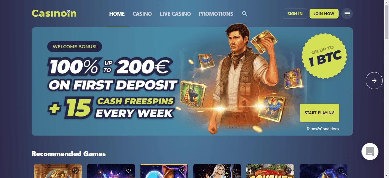 Casinoin Casino Bonus Code