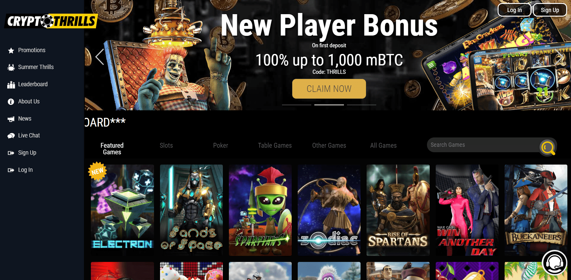 Crypto Thrills Promo Codes – CryptoThrills.io Free Spins August 2020