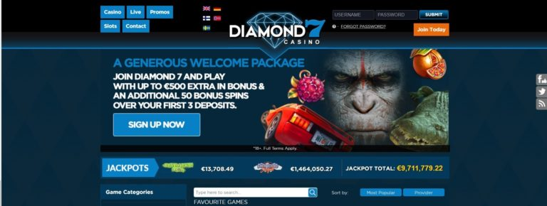 Diamond7 Casino Promo Codes – Diamond7Casino.com Free Spins January 2021