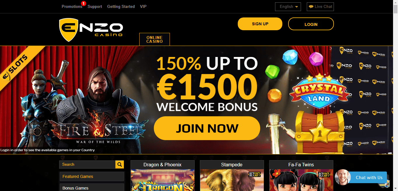Enzo Casino Promo Codes – EnzoCasino.com Free Spins January 2021