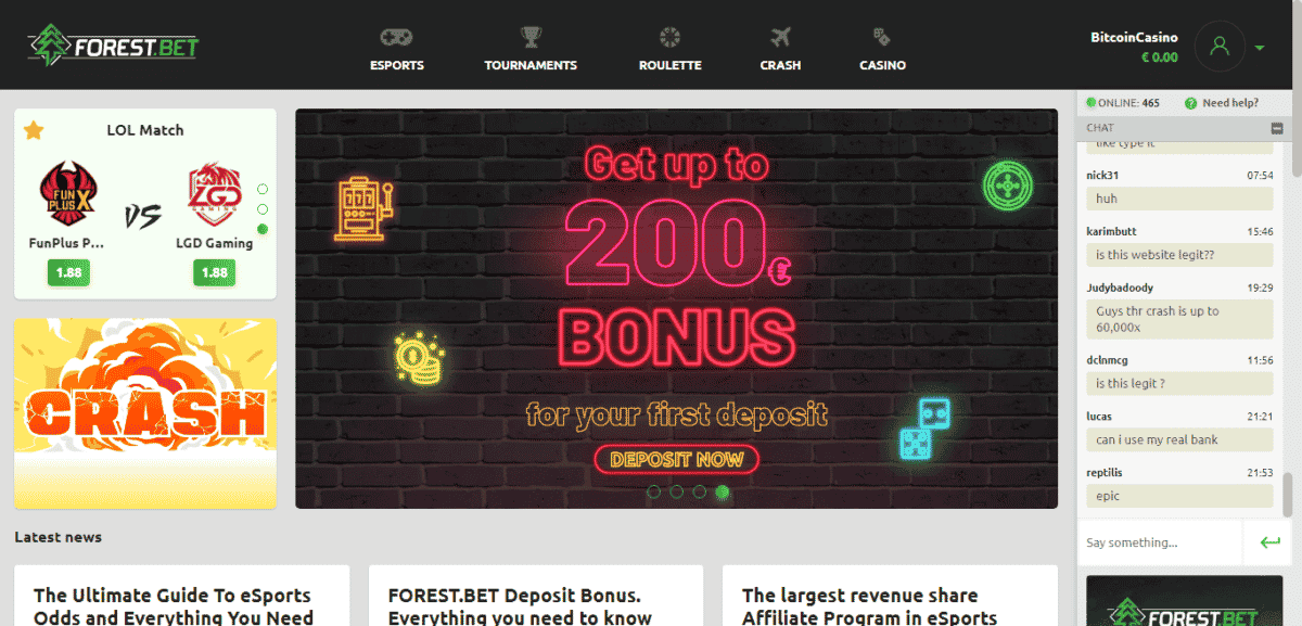 Forest Bet Promo Code