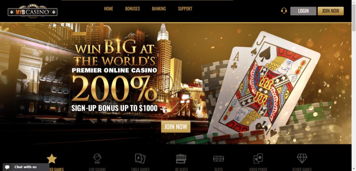 MYB Casino Free Bonus
