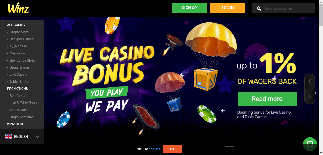 Winz Casino Bonus Codes