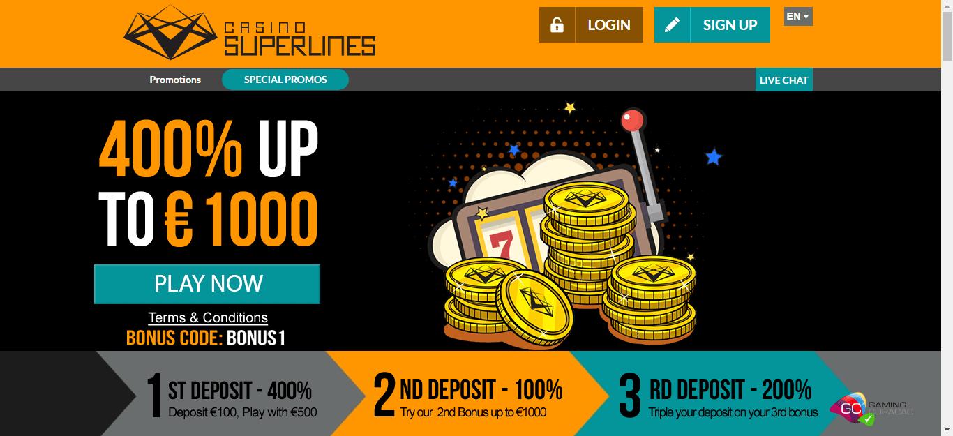 Casino Superlines Bonus Codes
