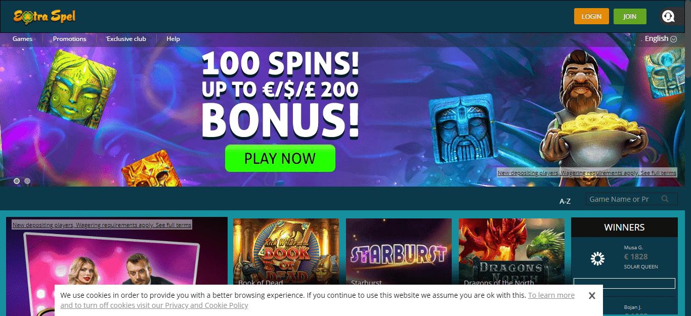 Extraspel Casino Bonus Codes