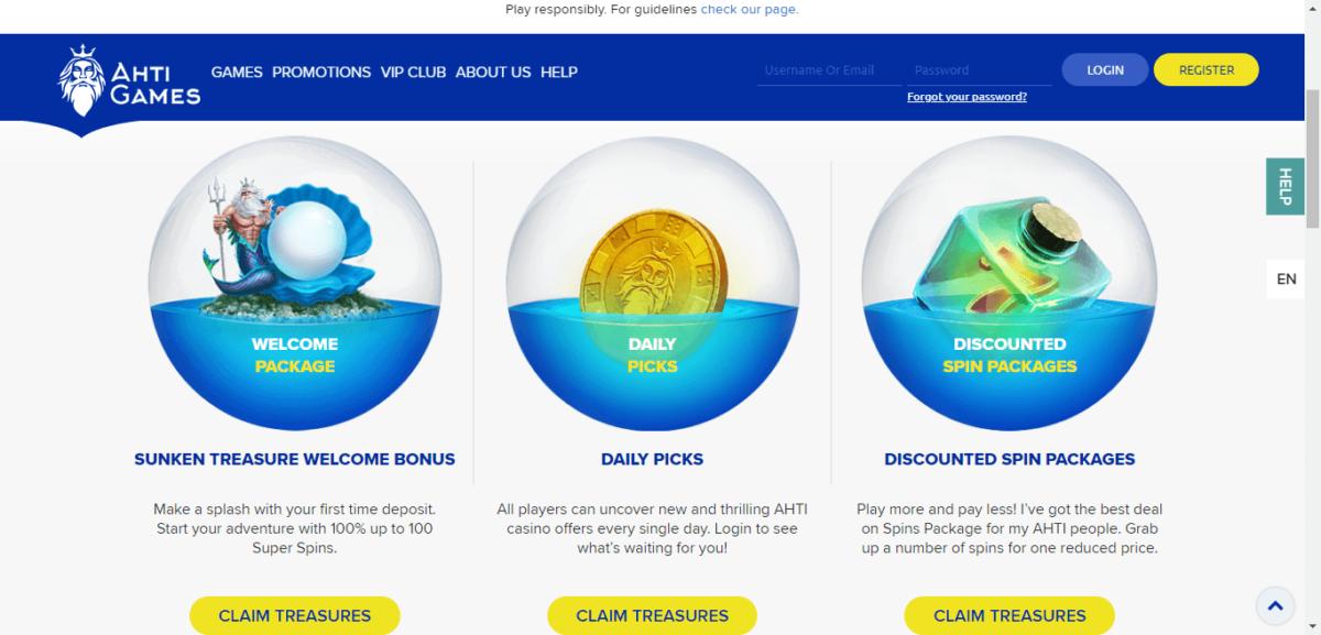 AHTI Casino Free Bonus