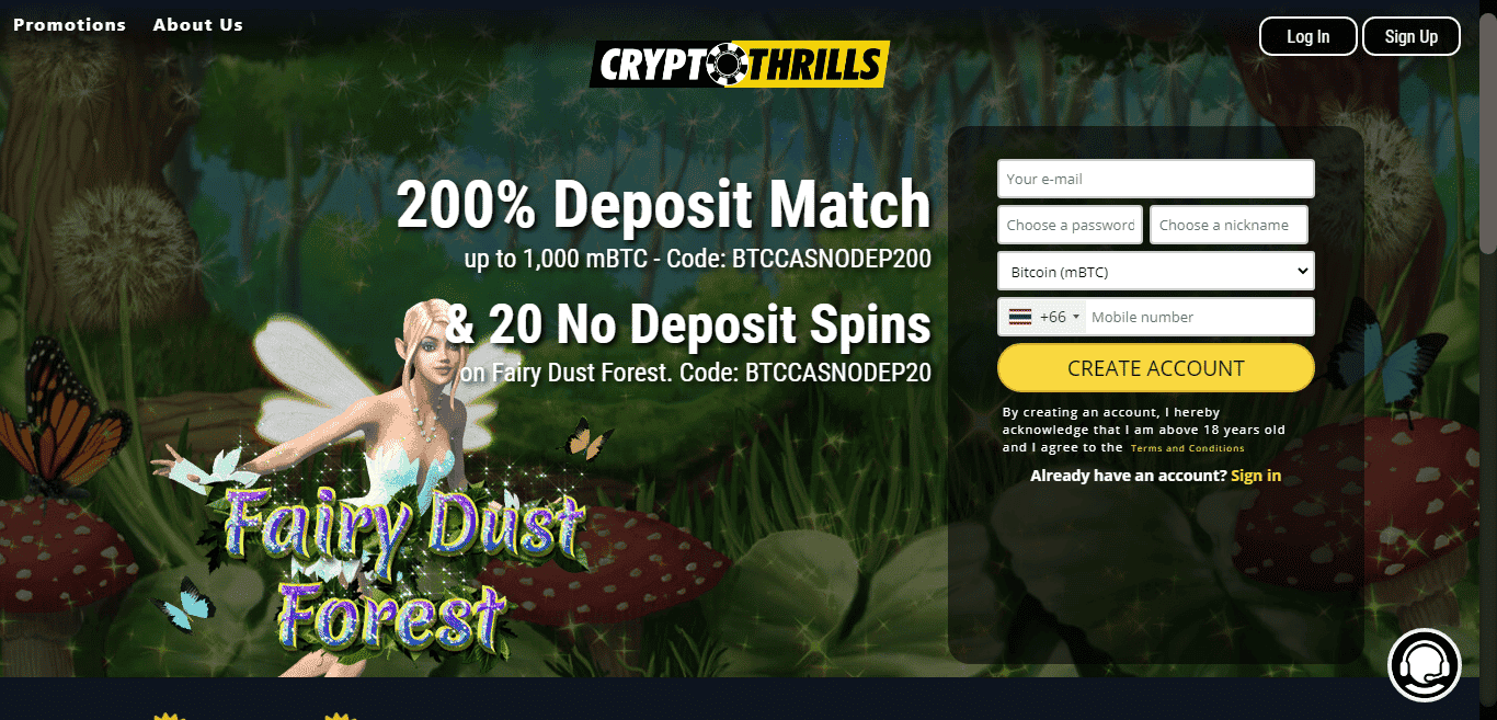 You are currently viewing CryptoThrills Casino Promos, Review & Rating