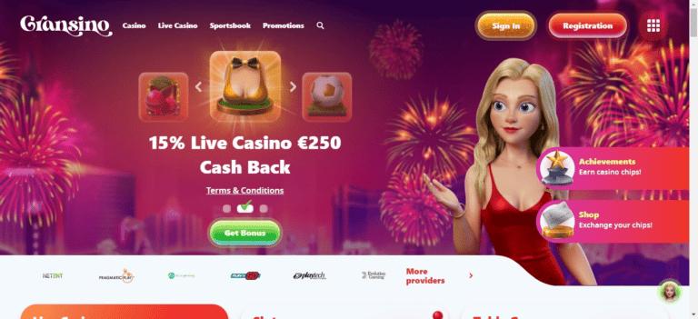 Read more about the article Gransino Casino Bonus Codes – Gransino.com Free Spins September 2021