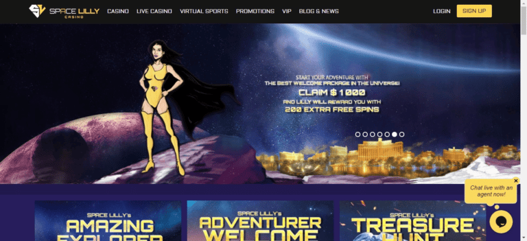 Read more about the article Space Lilly Casino Bonus Codes – SpaceLilly.com Free Spins September 2021