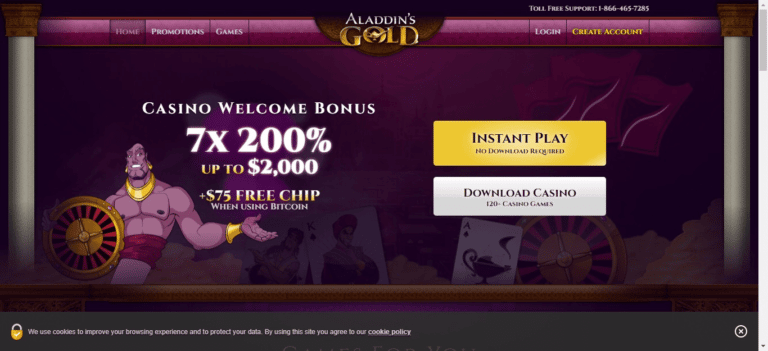 Read more about the article Aladdins Gold Casino Promo Codes – AladdinsGold.com Free Spins September 2021
