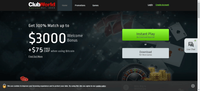Read more about the article Club World Casinos Bonus Codes – Clubworldcasinos.com Free Spins September 2021