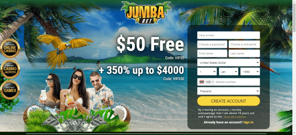 Jumba Bet Bonus Codes