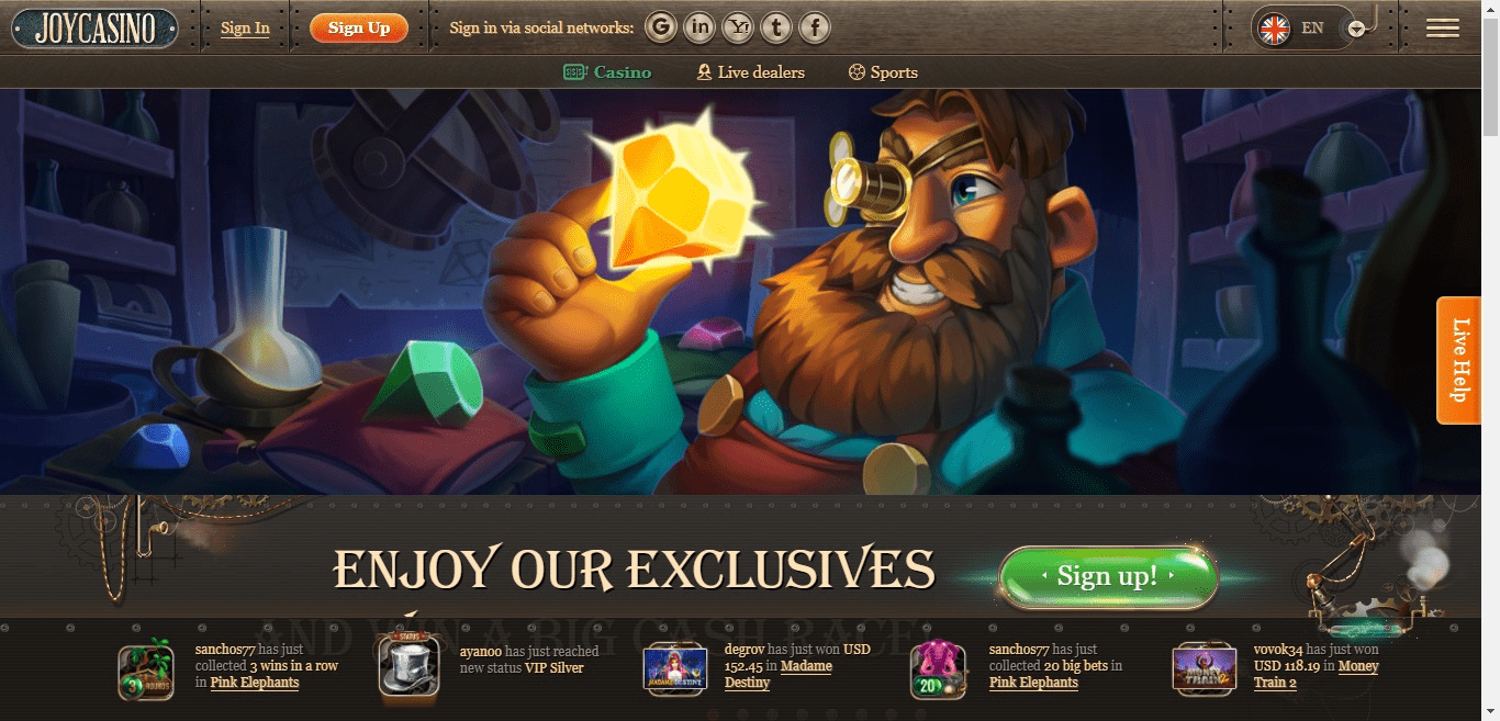 Read more about the article Joy Casino Promo Codes – JoyCasino.com Free Spins September 2021